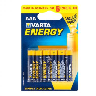 """Батарейки Varta """"Energy"""" AАA (6 шт)"""