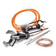 Комплект гидравлических ножниц КВТ НГПИ-105 с ножной помпой для резки кабелей под напряжением [69477]