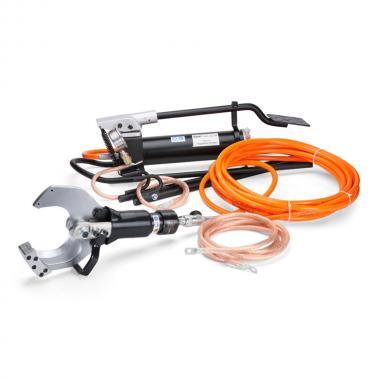 Комплект гидравлических ножниц КВТ НГПИ-85 с ножной помпой для резки кабелей под напряжением [61843]