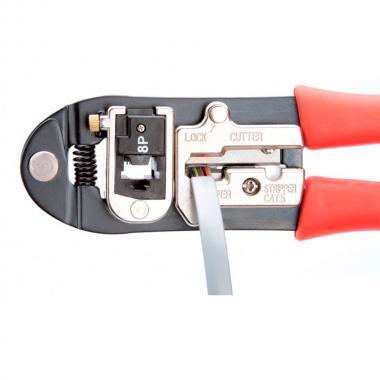 Кримпер КВТ JT-01A со сменными модулями для обжима RJ-45, RJ-12, RJ-11 [55929]