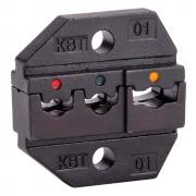 Номерные матрицы КВТ МПК-01 для опрессовки изолированных наконечников, гильз и разъемов [69957]