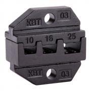 Номерные матрицы КВТ МПК-03 для опрессовки изолированных и неизолированных втулочных наконечников [69959]