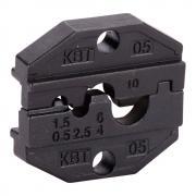 Номерные матрицы КВТ МПК-05 для опрессовки неизолированных медных наконечников и гильз [69961]