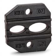 Номерные матрицы КВТ МПК-07 для опрессовки изолированных наконечников и гильз с красной и синей манжетами [69963]