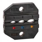 Номерные матрицы КВТ МПК-10 для опрессовки наконечников, разъемов и гильз в термоусаживаемой изоляции и КИЗ [69964]