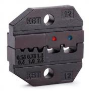 Номерные матрицы КВТ МПК-12 для опрессовки изолированных и втулочных наконечников [69965]