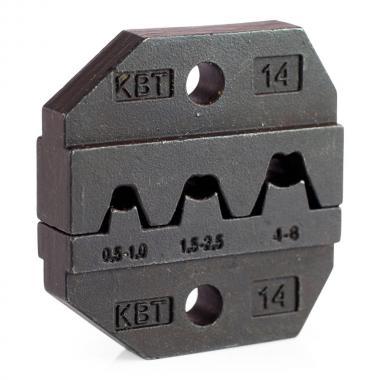 Номерные матрицы КВТ МПК-14 для опрессовки автоклемм под двойной обжим [69966]