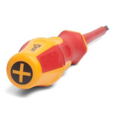 Диэлектрическая отвертка крестовая PH2x100 КВТ «ПРОФИ» [78612]