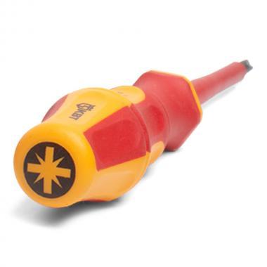 Диэлектрическая отвертка крестовая PZ1x80 КВТ «ПРОФИ» [78613]