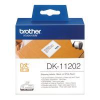 Лента Brother DK11202 наклейки 62 х 100 мм, белые (300 шт)