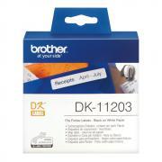 Лента Brother DK11203 наклейки 17 х 87 мм, белые (300 шт)