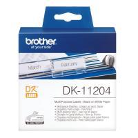 Лента Brother DK11204 наклейки 17 х 54 мм, белые (400 шт)