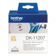 Лента Brother DK11207 наклейки ∅ 58 мм, белые (100 шт)