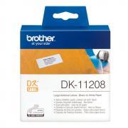 Лента Brother DK11208 наклейки 38 х 90 мм, белые (400 шт)