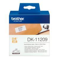 Лента Brother DK11209 наклейки 29 х 62 мм, белые (800 шт)