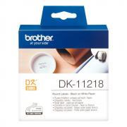 Лента Brother DK11218 наклейки ∅ 24 мм, белые (1000 шт)