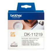 Лента Brother DK11219 наклейки ∅ 12 мм, белые (1200 шт)