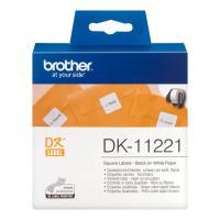 Лента Brother DK11221 наклейки 23 х 23 мм, белые (1000 шт)