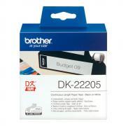 Лента Brother DK22205 непрерывная 62 мм х 30,48 м, белая