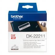 Лента Brother DK22211 непрерывная 29 мм х 15,24 м, белая