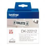 Лента Brother DK22212 непрерывная 62 мм х 15,24 м, белая