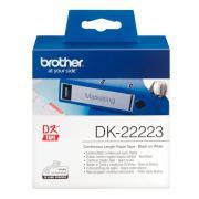 Лента Brother DK22223 непрерывная 50 мм х 30,48 м, белая
