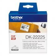 Лента Brother DK22225 непрерывная 38 мм х 30,48 м, белая