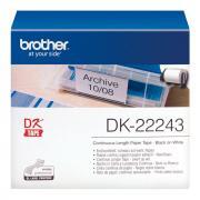 Лента Brother DK22243 непрерывная 102 мм х 30,48 м, белая