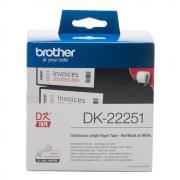 Лента Brother DK22251 непрерывная 62 мм х 15,24 м, белая