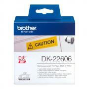 Лента Brother DK22606 непрерывная 62 мм х 15,24 м, желтая