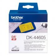Лента Brother DK44605 непрерывная 62 мм х 30,48 м, желтая