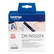 Лента Brother DKN55224 непрерывная 62 мм х 30,5 м, белая (неклейкая)