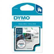 Картридж Dymo S0718040/16957, 12 мм, черный на белом