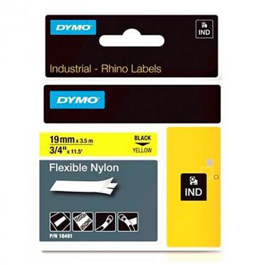 Картридж Dymo S0718090/18491, 19 мм, черный на желтом