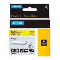 Картридж Dymo S0718470/18433, 19 мм, черный на желтом