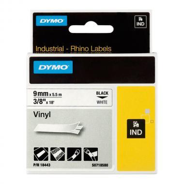 Картридж Dymo S0718580/18443, 9 мм, черный на белом