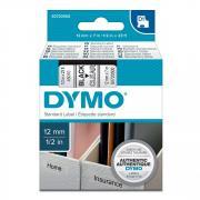 Картридж Dymo S0720500/45010, 12 мм, черный на прозрачном