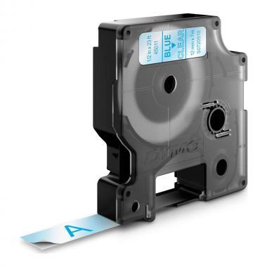 Картридж Dymo S0720510/45011, 12 мм, синий на прозрачном