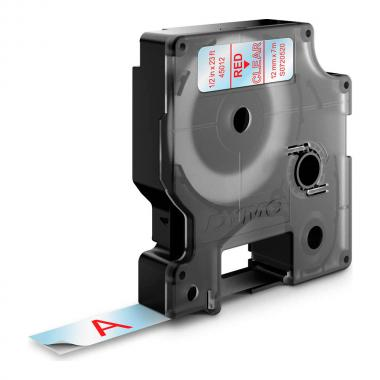Картридж Dymo S0720520/45012, 12 мм, красный на прозрачном
