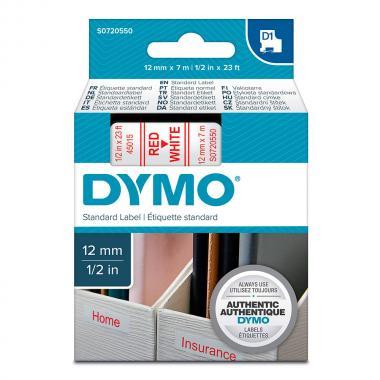 Картридж Dymo S0720550/45015, 12 мм, красный на белом