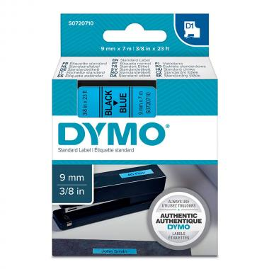Картридж Dymo S0720710/40916, 9 мм, черный на синем