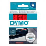 Картридж Dymo S0720720/40917, 9 мм, черный на красном