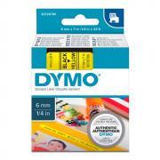 Картридж Dymo S0720790/43618, 6 мм, черный на желтом