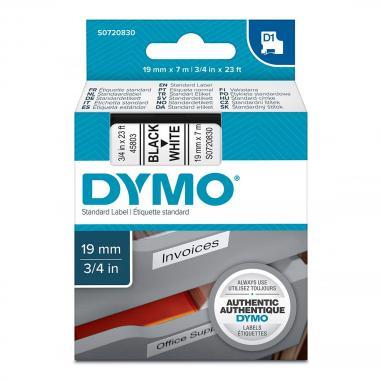 Картридж Dymo S0720830/45803, 19 мм, черный на белом