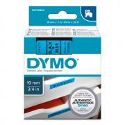 Картридж Dymo S0720860/45806, 19 мм, черный на синем