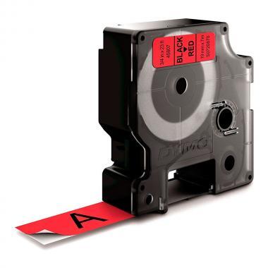Картридж Dymo S0720870/45807, 19 мм, черный на красном