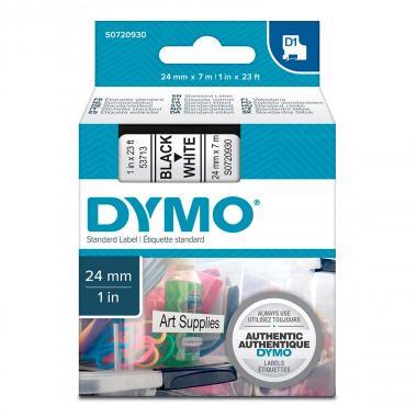 Картридж Dymo S0720930/53713, 24 мм, черный на белом