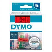 Картридж Dymo S0720970/53717, 24 мм, черный на красном