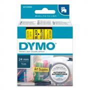 Картридж Dymo S0720980/53718, 24 мм, черный на желтом