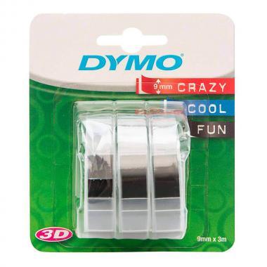 Лента Dymo S0847730/146077, 9 мм, черная (3 шт)